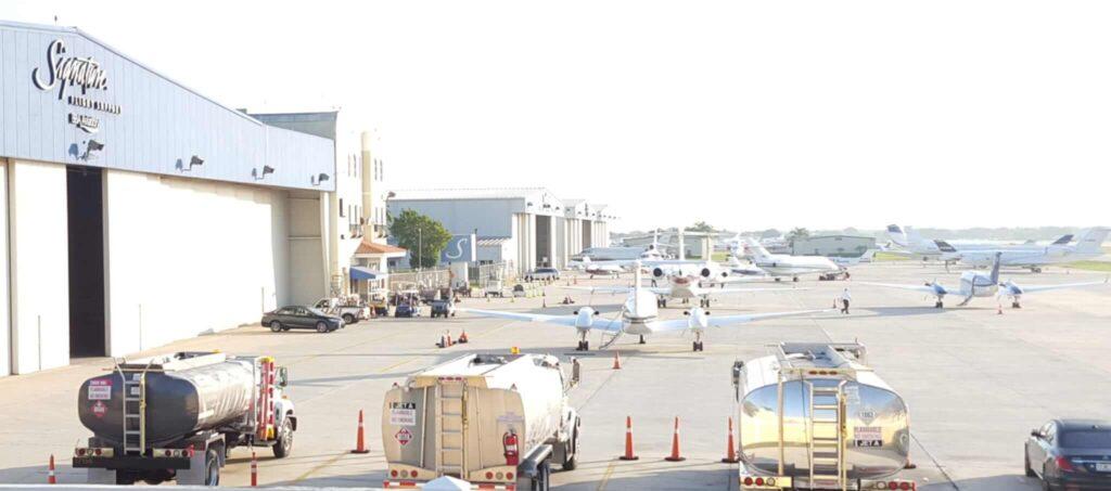 FBO airport Parking aircraft jets boca raton
